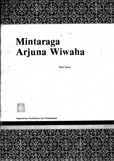 Arjuna Wiwaha Cover Depan