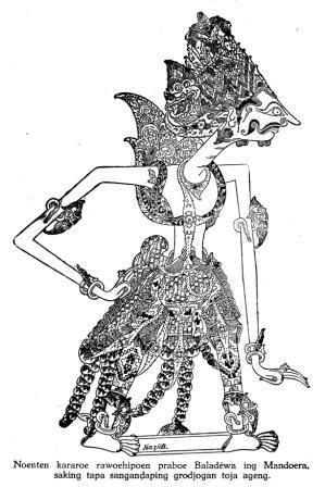 Gambar Wayang Purwa Resolusi Tinggi Karya Kasidi Dkk Tahun 1937 Koleksi Bas P03 Pustaka Wayang