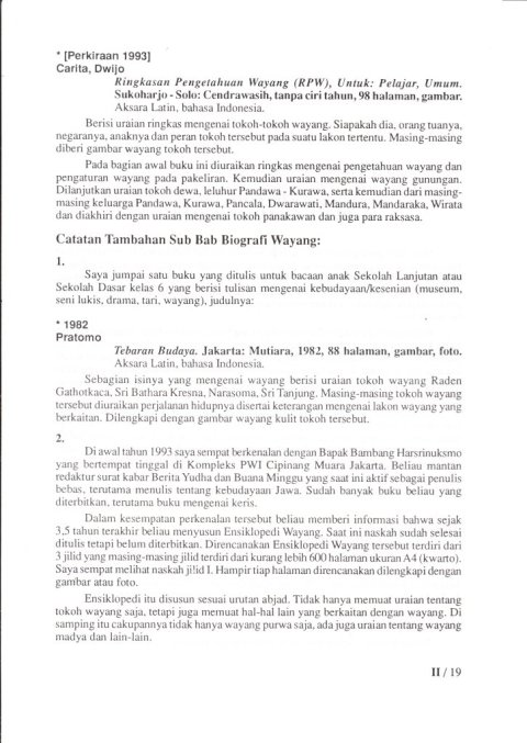 Kepustakaan Wayang Purwa Jawa - BAB II 02 BIOGRAFI WAYANG - Budi Adi Soewirjo